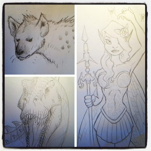 Here are a few recent additions to my sketchbook.