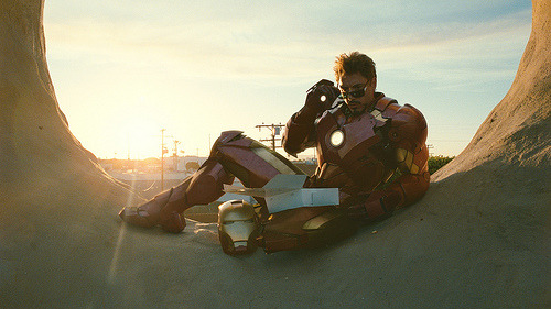 Iron Man 2 isn't the greatest but if anything it gave me Tony Stark chilling on a donut.