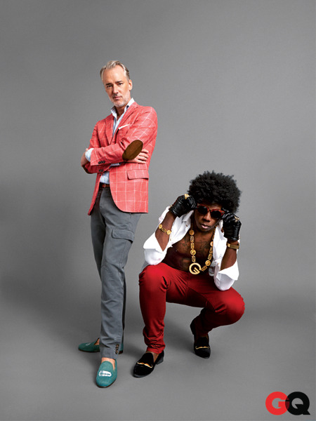gq:  Michael Bastian and Trinidad James  playa shit