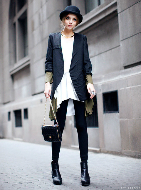 must-have-outfits:  cute & chic in a bowler cap