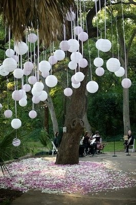 An alternative to the Hanging lantern, put a marble inside a balloon before you blow it up—MUCH cheaper than paper lanterns!
