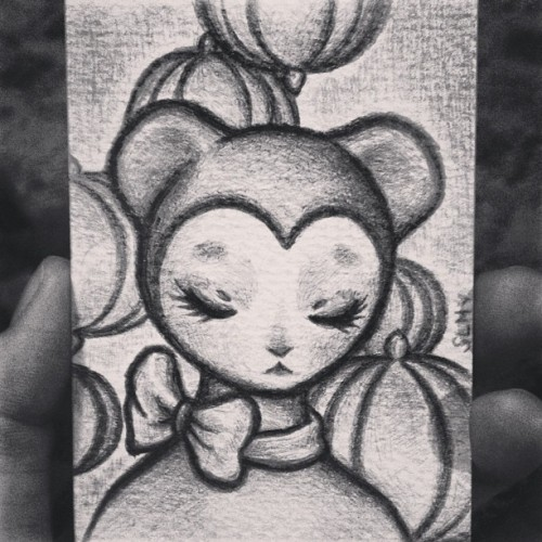 Sweet lil bear. #art #atc #aceo #anime #artistcard #manga #pencil #drawing #illustration #bear