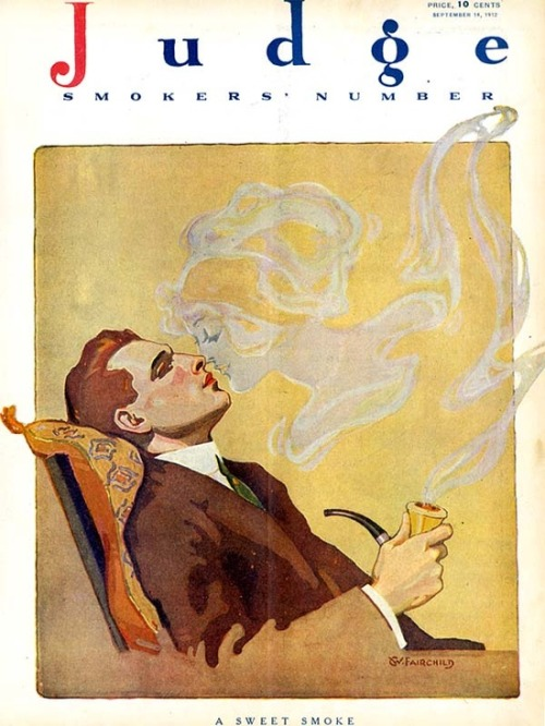 hoodoothatvoodoo:  'A sweet smoke' Judge Magazine 1912