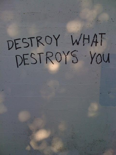 every0nesequal:  To succeed in life, you must destroy what destroys you. Even if its your self; you don't completely wipe your self off this planet. But destroy that feeling, master it and conquer the rest. You can make it, it only takes a matter of time.