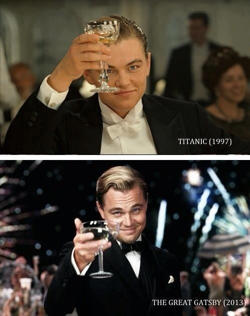 ellievhall:  Leonardo DiCaprio: Then and Now.   BABY