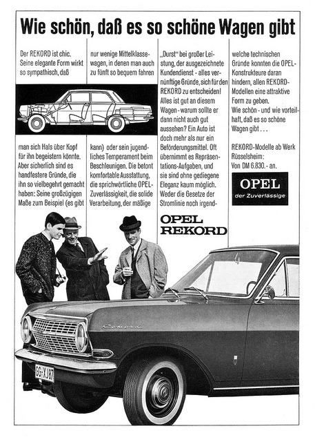 Opel Rekord A (1964) Schöne Wagen by H2O74 on Flickr.Opel Rekord...