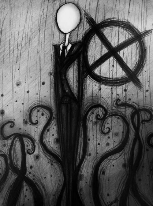 the-half-slender-being:  Slenderman by captain-emmur
