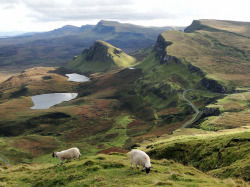 ourwildways:   The Quiraing, Isle of Skye » by QuidamCress  sheep?