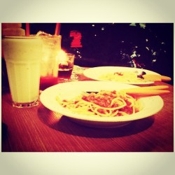 First food photograph #instafood #instamood #pasta #italianfood #instagood  (at Warung Pasta)