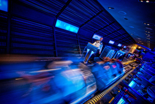disneyendlessmagic:  Space Mountain Take Off by Samantha Decker on Flickr.