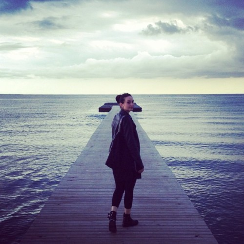 #love #girlfriend #harbour #seaside #sea #view #colours #cloudy #numb #foggy #bridge  (presso Grado)