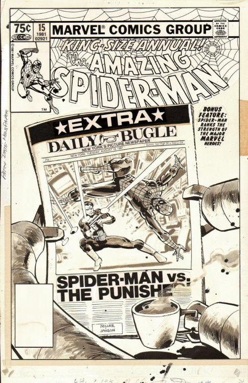 seanhowe:  Amazing Spider-Man Annual #15. Art by Frank Miller and Klaus Janson.
