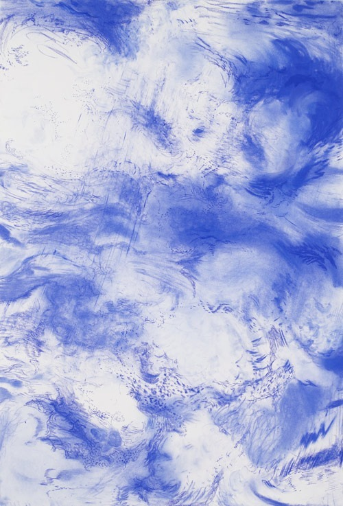 serbrunetto:  Jim Hodges Study for Blue IV, 2009  I want to swim.  I want to feel the muscles in my arms cut through the blue,  feel the sense of invincibility that oxygen feeds to hungry lungs, hear the splash of my legs in the water, and the cool kiss of the wetness wrapping around me.
