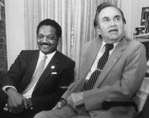 Rev. Jesse Jackson with Governor George Wallace.