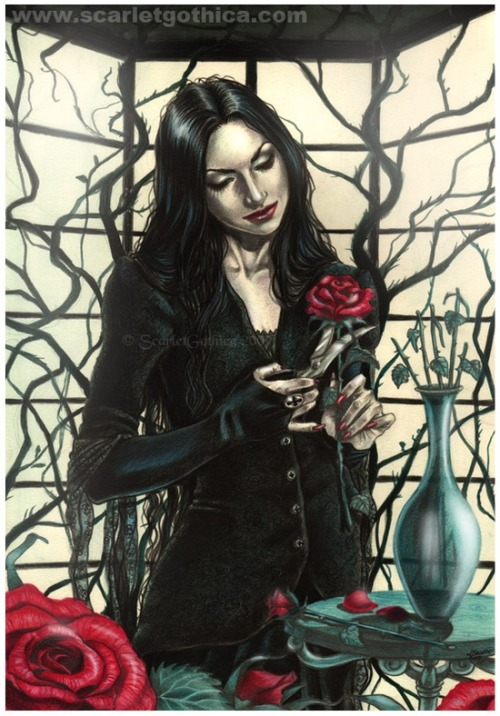 a-harlots-progress:  Morticia by *Claudia-SG on deviantART