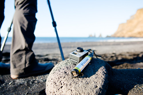 goal zero keeping us charged while searching for waves in Iceland!