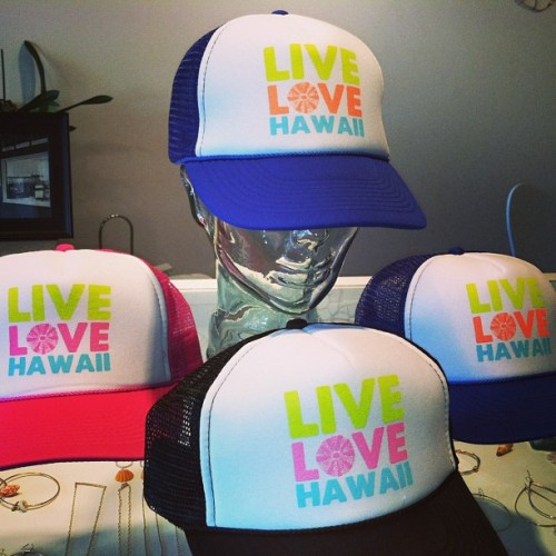 New hat graphic I designed specifically for Otaheite Hawaii :) Live Love Hawaii. Soooo cute - I need to buy one for myself…and you should too!