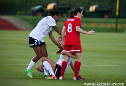 Alex Morgan was fouled twice within 30secs against the Washington Spirit. Alex grabbed Diana Mathesons of the Spirits legs in retaliation.