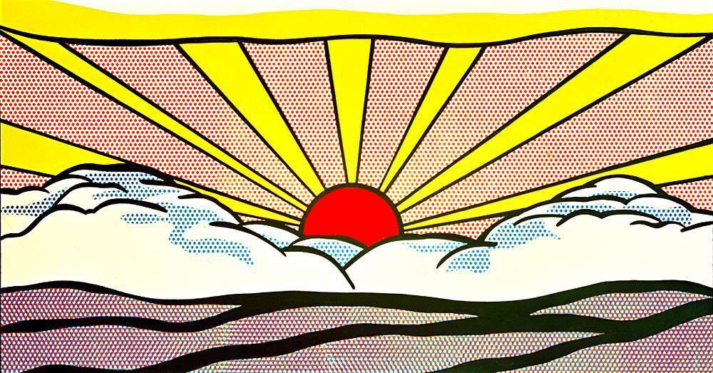 Sunrise, 1965, Roy Lichtenstein Medium: magna,oil,canvas #roylichtenstein#popart#lichtenstein#americanart#newyorkart
