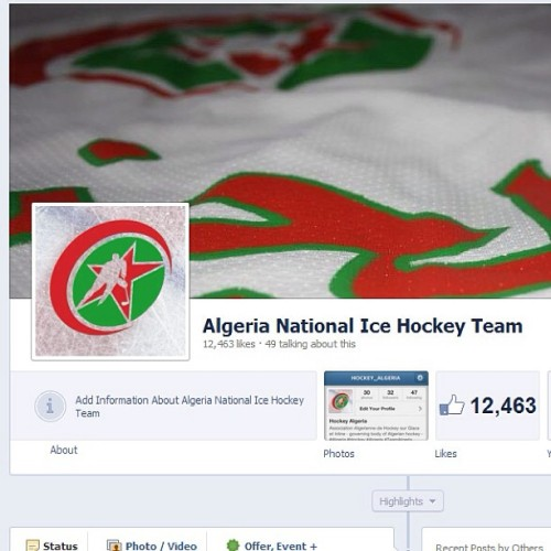 'Like' us on Facebook http://www.facebook.com/AlgeriaIceHockeyTeam #algeria #algeria #teamalgeria #teamdz #hockey #facebook