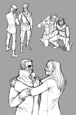 syberfag:  I got Big boss and Ocelot feelings. Will maybe add colour and shading later effort