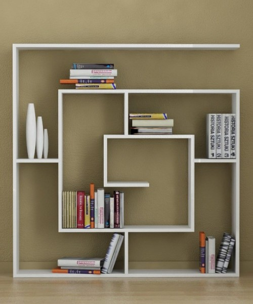 homedesigning:  (via Creative Bookshelves: Modern and Modular)