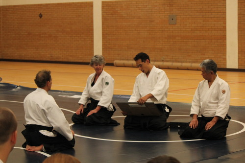 Aikido Sensei Ronald Sims being