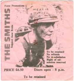 little-trouble-grrrl:  ticket stub from a smiths concert in belfast, northern ireland february 12th 1986