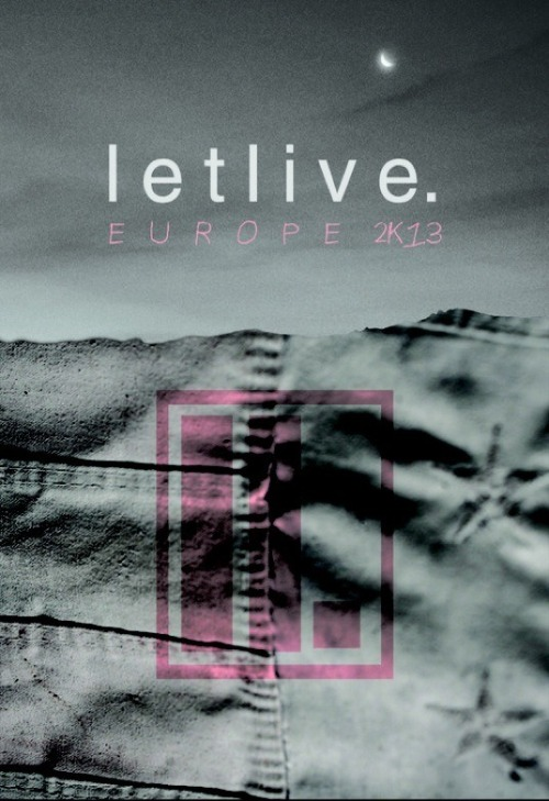 Letlive. European Tour Admat poster featuring images from the artwork I did for their new record. Can't wait to see the whole project once announced.