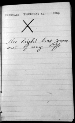 historicporn:  Theodore Roosevelt's journal entry the day both his wife and mother died.1884.