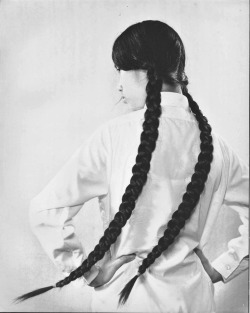 photography fashion vintage portrait retro braid woman 1960s long hair braids Documentary Asia plait Hong Kong vintage photography vintage fashion braided hair documentary photography pat dudek NANCY SHEUNG HONG KONG WOMAN