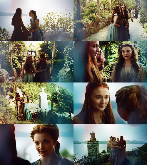 sansaastarks:  sansa/margaery + touch me (asked by anonymous)
