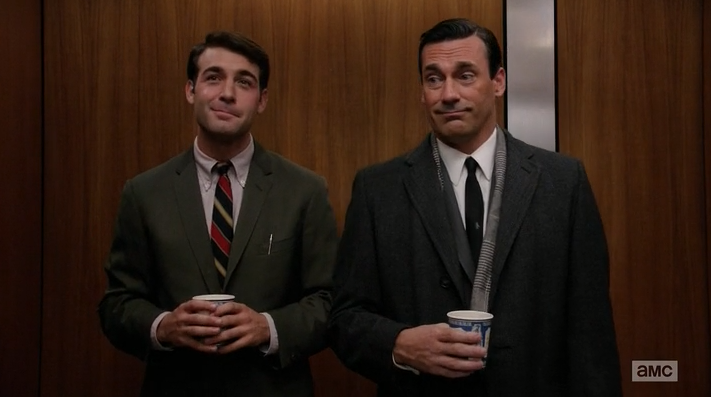 folkinz:  I am very pleased James Wolk is on Mad Men this season. Also, Don's face.
