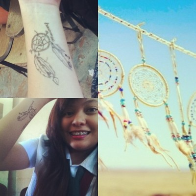 "Dreammcatcher!!! :"""""">  Yaaaaayyy. Ajuju #dreamcatcher #tattoo"