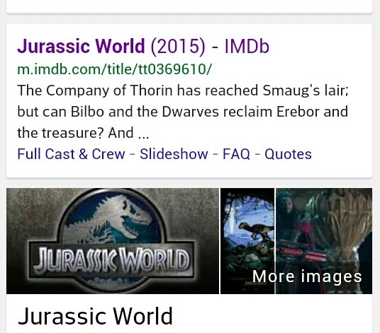 Google, I don't think your robots pulled the right description.  Unless you did…*imagines Bilbo running from raptors, Gandalf riding a triceratops* yessss…