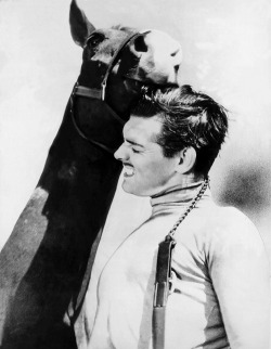 "williamclarkgable:  Clark Gable and ""Sunny,"" 1937"