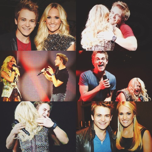 fricknfrack-:  Tonight, May 18th, 2013 is Hunter's final show with Carrie Underwood on her Blown Away Tour.