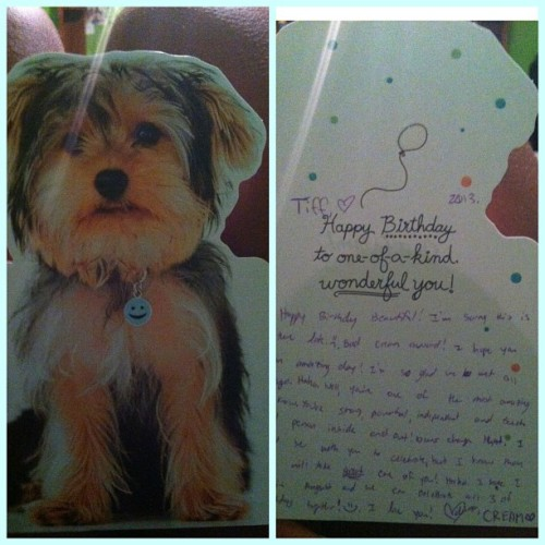 Got a birthday card from my Heffer Love! Thank you love can't wait till August! 💙