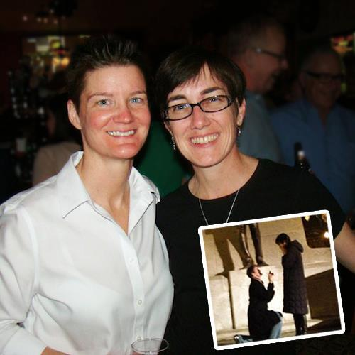 freedomtomarry:  This week, Illinois Rep. Kelly Cassidy got engaged to her partner of three years, Kelley Quinn, at the IL State Capitol! Read their story: http://bit.ly/XNfWHi