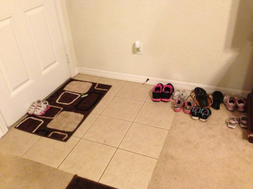 I told my 2 year old to put her shoes by the front door. She takes me very literally sometimes… via imgur → more…