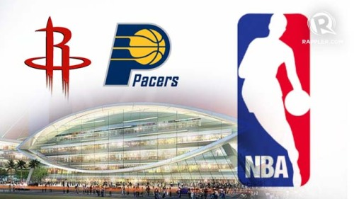 Confirmed: it's Indiana Pacers vs. Houston Rockets preseason game, October 10, 2013 at the Mall of Asia Arena.