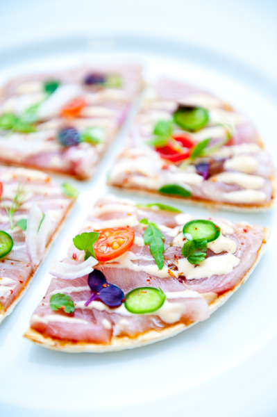 Hamachi Jalapeno Pizza with recipe (link)