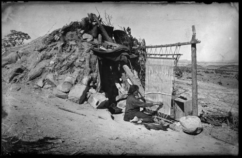 Navajo Woman Weaving ca 1885 Photo By: Ben Wittick Negative #016038