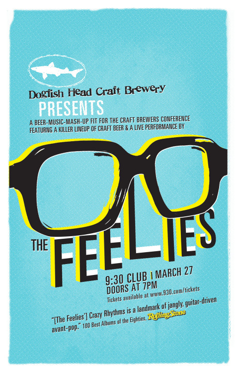 SHOW PREVIEW: The Feelies Been in the mood for a chill night involving good craft brews and great music? My friend, you have come to the right place. Prepare yourself for an evening of Dogfish Head craft beers and seminal indie rockers The Feelies. If you haven't experienced them yet, imagine combining mid-aughts power pop rock with Brooklynite rhythms jacked straight from a Strokes record – except The Feelies are actually from the 70s. Think Calexico in the big city (the big city being D.C.). Strummy, jammy indie rock that's still inordinately relevant in our post-post-punk NYC-brushed world. These guys are the reason bands like Weezer and Local Natives exist, and 40 years after their CBGB stints they haven't lost a beat. Do not miss. -Kelsey Butterworth