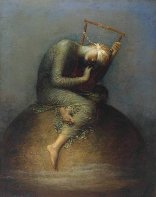 peril:  Hope (1886), oil on canvas, Tate Britain, London | artwork by George Frederic Watts and assistants