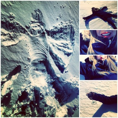 I like #Playing in the #SNOW! #snowday #winter #country #snowangel #fun #Canada
