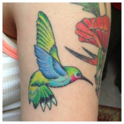 #picstitch #hummingbird #tattoo