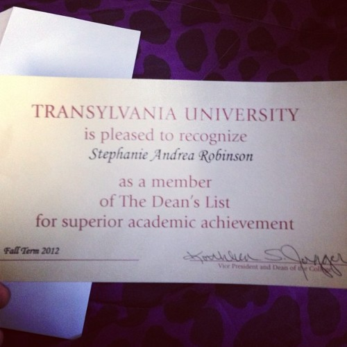 Got this in my mailbox. I'm proud of myself :)