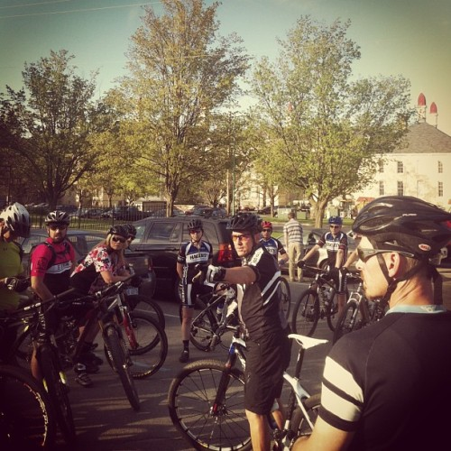 Conquer the Village Pre Ride. Racing at the Old State Hospital. Finally.