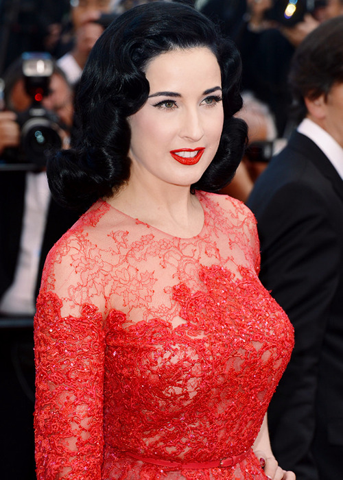 Dita Von Teese attends the 'Cleopatra' premiere during The 66th Annual Cannes Film Festival on May 21, 2013